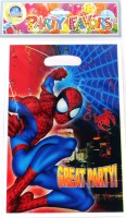 Funcart Spiderman Lootbag Printed Party Bag (Multicolor, Pack Of 6)