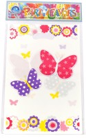 Funcart Flying Butterfly Lootbag Printed Party Bag (Multicolor, Pack Of 6)