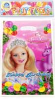 Funcart Riding Princess Lootbag Printed Party Bag (Pink, Pack Of 6)