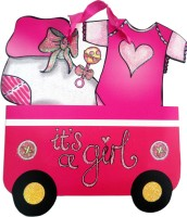 Elegant Gift Shop It's A Girl! Printed Party Bag (Pink, Pack Of 1)