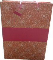 Paper Bag Zone Party Printed Party Bag (Pink, Pack Of 10)