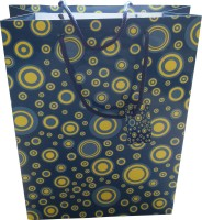 Paper Bag Zone Party Printed Party Bag (Blue, Yellow, Pack Of 10)