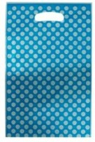 Smartcraft Polka Dotted -Light Blue Printed Party Bag (Multicolor, Pack Of 10)