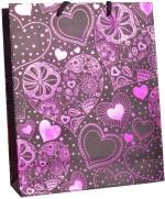 Enwraps Pink Heart Print Small