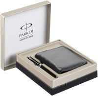 Parker Ambient Lacque Black CT Roller Ball Pen Gift Set (Blue)