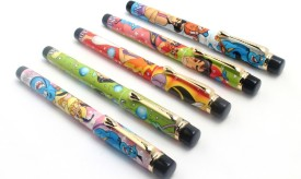 SRPC ( Pack Of 5 ) Fellowship Eyedropper Aladdin Cartoon Design Pretty Fountain Pen
