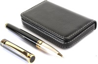 SRPC EXECUTIVE GIFT SET OF LEATHER ATM HOLDER AND MAGNETIC CAP ELEGANT Roller Ball Pen (Pack Of 2, BLUE)