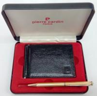 Pierre Cardin Rich Set With Money Clip Wallet Pen Gift Set (Pack Of 2, Blue)