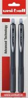 Uniball Vision 3 Roller Ball Pen (Pack Of 2, Black)