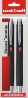 Uniball Jets Roller Ball Pen (Pack Of 2, Black)