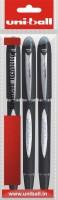 Uniball Jetstre Roller Ball Pen (Pack Of 3, Black)
