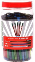 Nataraj Assorted Ball Pen (Pack Of 100, Blue, Black, Red)