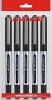 Uniball Eye 1 Roller Ball Pen (Pack Of 5, Black)
