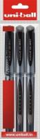 Uniball Gel Impact 1 Gel Pen (Pack Of 3, Black)