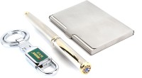 Srpc STEEL HOOK , ATM CARD HOLDER & EXECUTIVE JEWEL ROLLERBALL Pen Gift Set (Pack Of 3, BLUE)