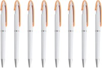 LUXANTRA Classic Orange Roller Ball Pen (Pack Of 8, Blue)