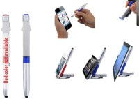 RIF 4 In 1 Folding Pen With Stylus, Torch And Mobile Stand (Set Of 2 Pcs) Multi-function Pen (Pack Of 2, Blue)