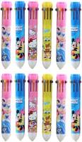 Gifts Online 10 Colour Cartoon Ballpoint Pen, Pack Of 12 Pens, Return Gift Ball Pen (Pack Of 12, Multicolour)