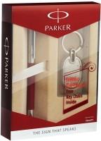 Parker Vector Metallix BP Pen Gift Set (Blue)