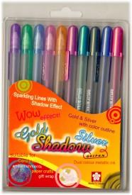 Sakura Gelly Roll Gold and Silver Shadow Gel Pen