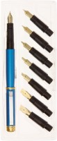 Neo Gold Leaf Pen Set Calligraphy (Pack Of 8, Black, Blue)