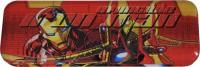 Disney Ironman Marvel Avenger Art Metal Pencil Box (Set Of 1, Red, Yellow)