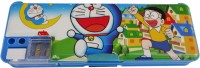 Dreambag Doraemon Print Art Plastic Pencil Box (Set Of 1, Blue)