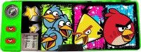 Angry Birds 2 Button Cartoon Characters Art Plastic Pencil Box (Set Of 1, Yellow)