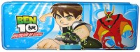 Atorakushon Magnetic With Double Sided Gift Cartoon Art Plastic Pencil Box (Set Of 1, Blue)