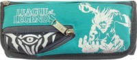 Aardee League Of Legends Design Art Thick Fabric Pencil Box (Set Of 1, Green)