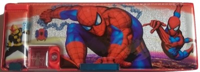 Gift Chachu Geometry & Pencil Boxes Gift Chachu Small Pocket Spiderman Art Plastic Pencil Box