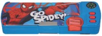 Disney Spiderman Cartoon Characters Art Plastic Pencil Boxes (Set Of 1, Muticolor)