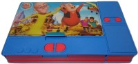 Gift Chachu Jumbo Motu Patlu Art Plastic Pencil Box (Set Of 1, Blue Colour)