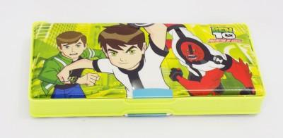 Alex's Ben Ten Series Ben Ten Art Plastic Pencil Box (Set Of 1, Yellow)
