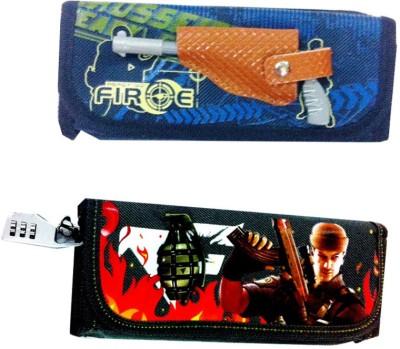 AOC Geometry & Pencil Boxes AOC Lock and Pen Lock and Gun Pen Art Polyester Pencil Boxes