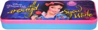 Disney Snow White Cartoon Art Plastic Pencil Box (Set Of 1, Pink, Blue)