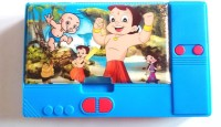 Gift Chachu Jumbo Chhota Bheem Art Plastic Pencil Box (Set Of 1, Blue)