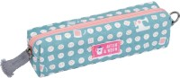 Www.thepaper.asia Circles Buttons Art Canvas Pencil Box (Set Of 1, Green)