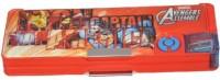 Disney Avengers Cartoon Characters Art Plastic Pencil Box (Set Of 1, Muticolor)