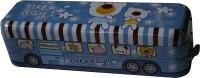 Camlin Panda Bus Art Metal Pencil Box (Set Of 1, Blue)