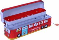 Smart Picks Snap Bus Art Metal Pencil Boxes (Set Of 1, Multicolor)