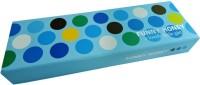 Klassik Polka Dots Random Art Hard Card Board Pencil Box (Set Of 1, Blue)