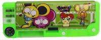 RD Promos Kids Multi Purpose Case Cartoons Art Plastic Pencil Box (Set Of 1, Green)