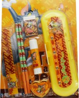 Warner Brothers Tom & Jerry Plastic Pencil Boxes (Set Of 7, Yellow)