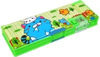 Ollington St. Collection Cartoon Smilie Art Plastic Pencil Box (Set Of 1, Green)