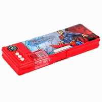 Warner Bros. Superman Plastic Pencil Boxes Blue, Red