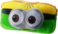 Klassik 3D Big Eyes Random Art Cloth Pencil Box (Set Of 1, Green)