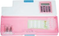 DreamBag Angry Bird Print Art Plastic Pencil Box (Set Of 1, Pink)