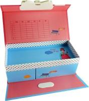 Klassik Cute And Cuddly Random Art Hard Card Board Pencil Box (Set Of 1, Multicolor)