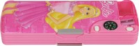 Hm International Barbie Cartoon Art Metal Pencil Box (Set Of 1, Light Pink, Dark Pink)